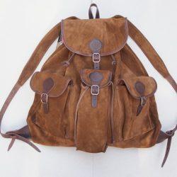 Közepes marhabőr hátizsák